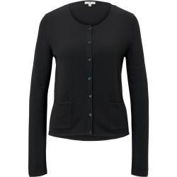 Photo of Tom Tailor Damen einfache Strickjacke, schwarz, schlicht, Größe M Tom TailorTom Tailor