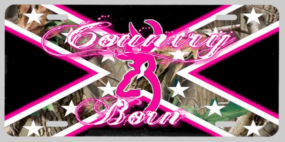 Browning Deer Country Born License Plate In By