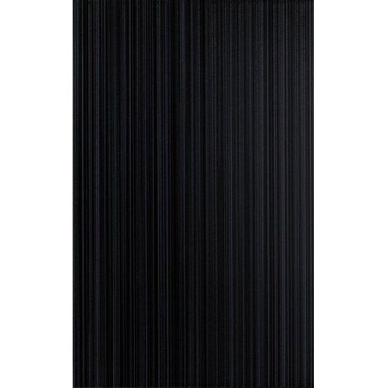 Brighton Black 25x40 cm is a ceramic gloss wall tile with a line pattern by  British. 25x40cm Brighton Black wall tile by BCT   Cheap tiles  Bathroom