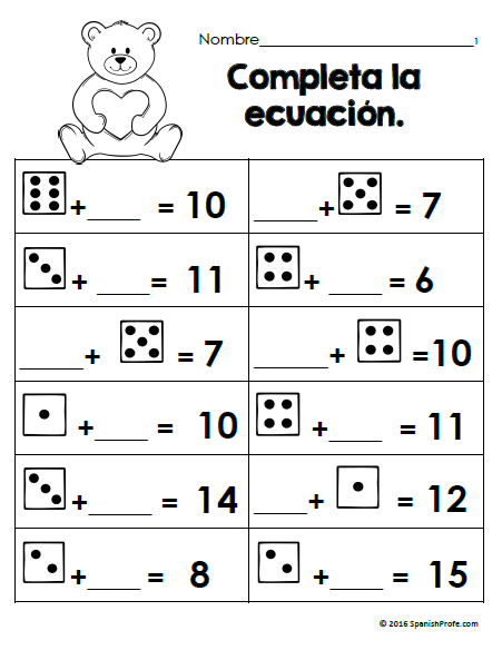 Free Bilingual February Math Worksheets First Grade Gratis Matematicas Math Worksheets February Math Bilingual Mat February Math Math Worksheets Bilingual Math