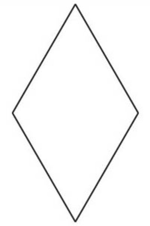 This is a picture of Astounding Diamond Template Printable