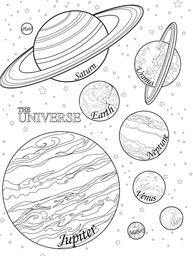 Free Printable Planet Coloring Pages For Kids Space Planet