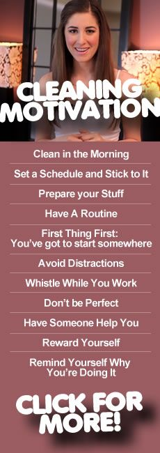 How To Get Motivated To Clean Cleaning Motivation Cleaning Hacks Clean My Space