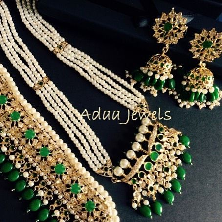 797249ff9f4b6 Tirmani haar Jadavi Lacha and karan phool #hyderabadijewelry ...