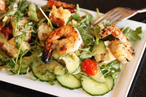 Fresh Salad with Shrimp