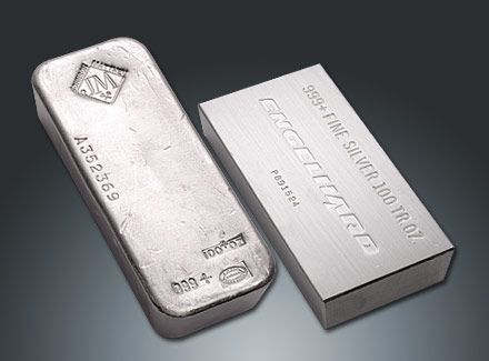 100 Ounce Silver Bars Johnson Matthey And Engelhard Silver Bars Silver Gold Bullion