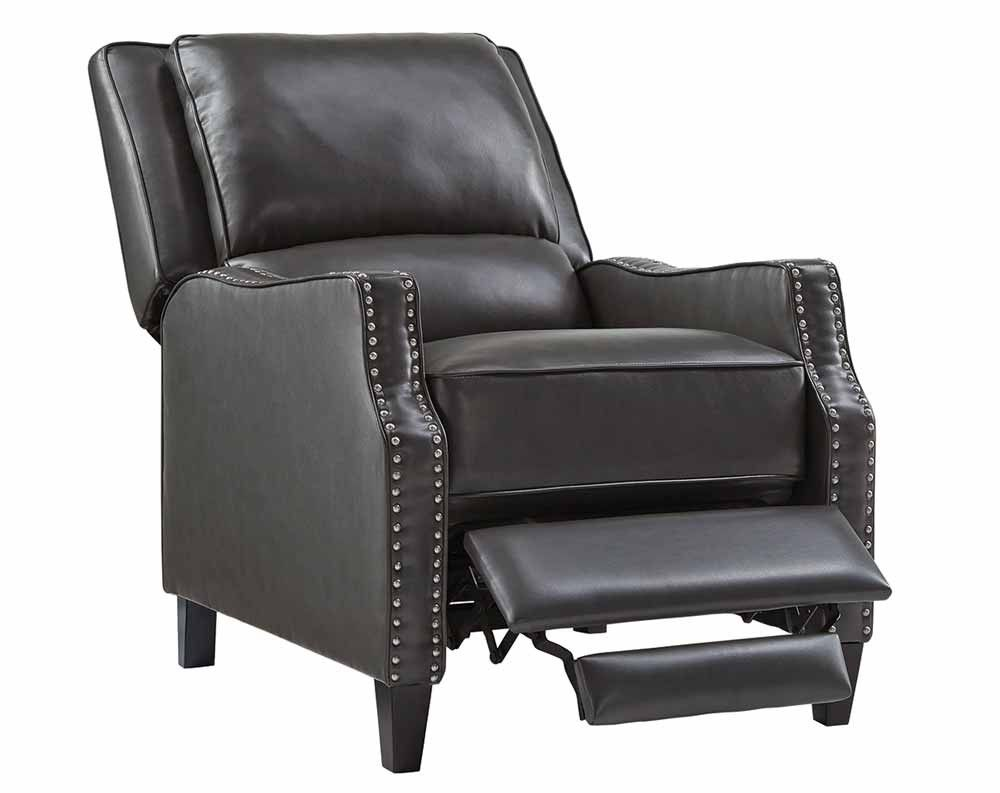 Best Alston Charcoal Push Back Recliner Accent Chairs 400 x 300