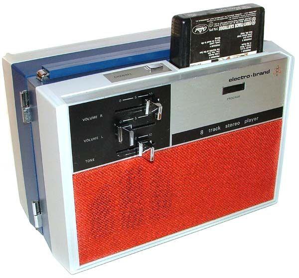Inside Of A 8 Track Tape: Electro-Brand Swinger Portable Top Loader 8 Track Tape