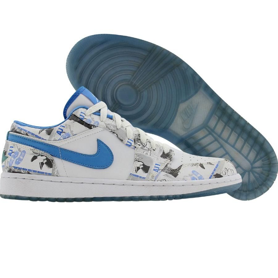 fe654e3afaa63 Nike Womens Air Jordan 1 Retro Low (white / university blue) 316297-141 -  $99.99