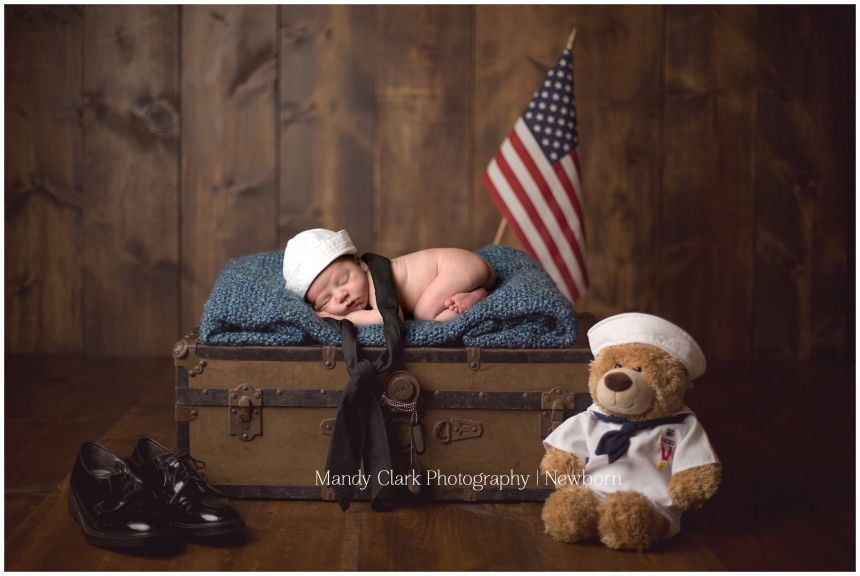 Mr. Brantley >> Charleston, SC Newborn, Children, Family Photographer » Mandy Clark Photography United states Navy Newborn, American flag, Navy baby baby bum,barn wood,blue,boy,brown, military, military baby