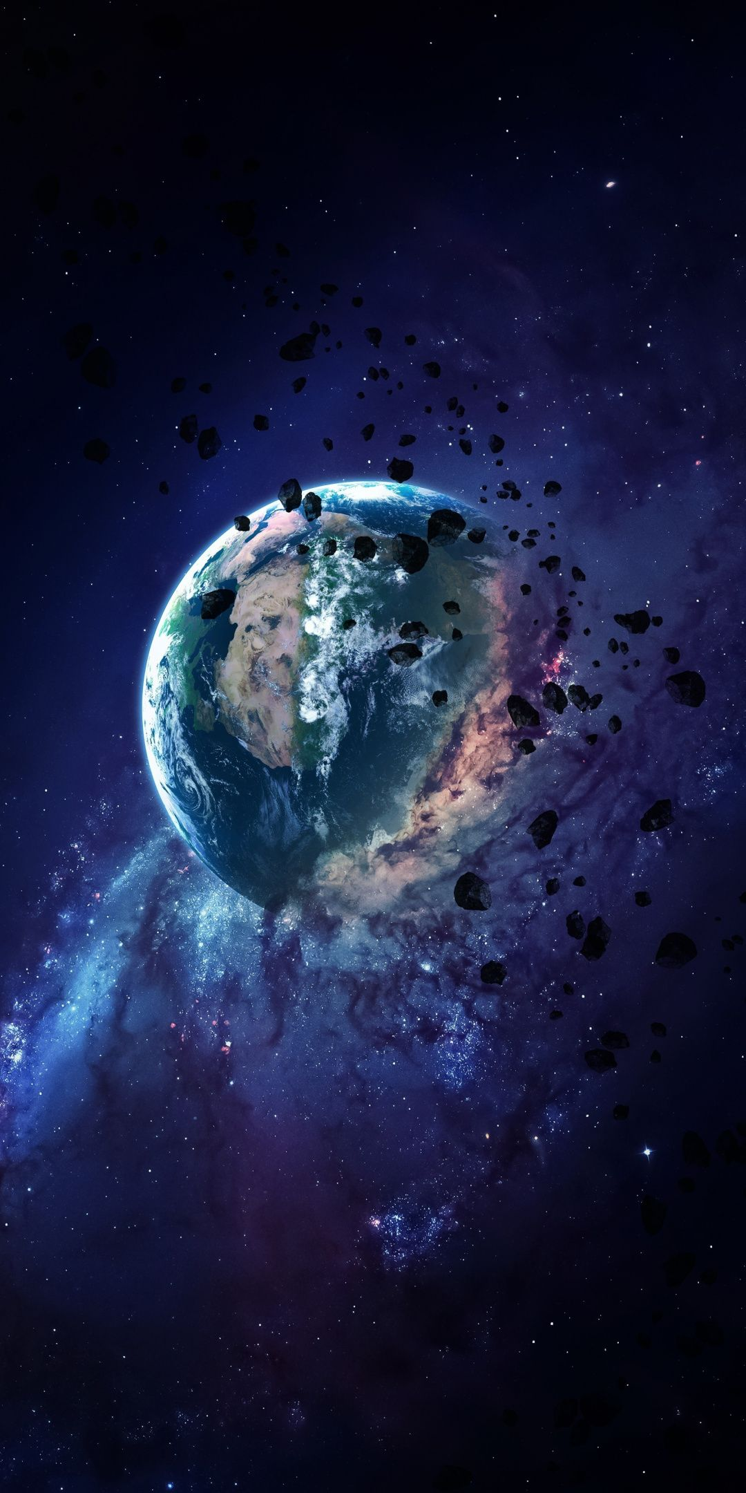 Apocalyptic Earth Space Art 1080x2160 Wallpaper Earth Art Solar System Wallpaper Iphone Wallpaper