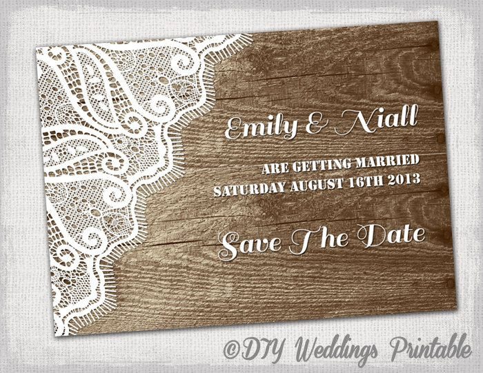 free vintage save the date templates - rustic save the date template printable by