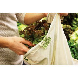 ChicoBag rePETe, Hemp & Mesh Reusable Produce Bags : Again, deciding on material and I don't like that I would need a bunch of these but interesting logic for storing food.