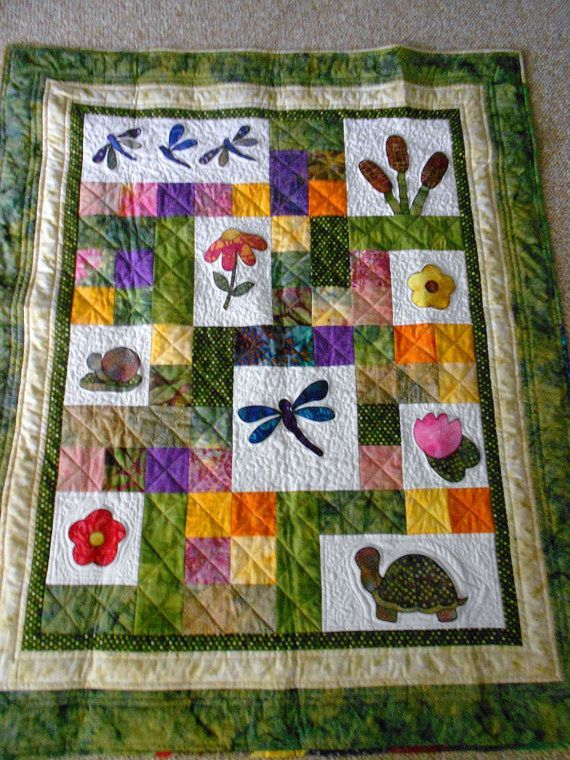 dragon fly baby quilting patterns | PATTERN PDF Baby Quilt