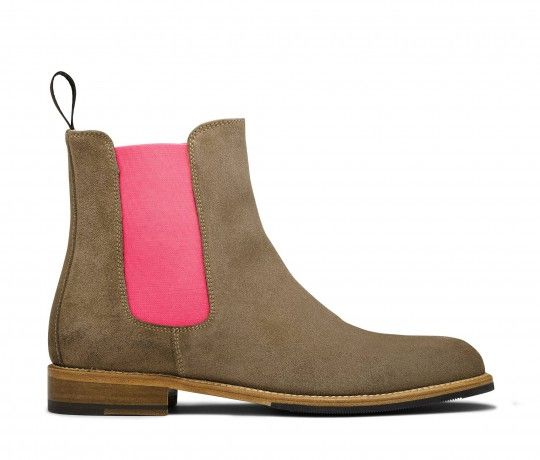 sports shoes 43a49 2748d Bruna - Women's beige suede leather Chelsea boots   Scarosso ...