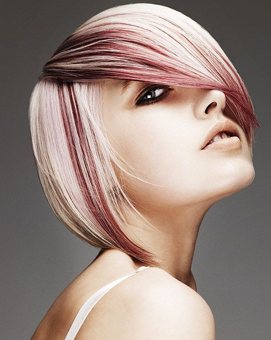 Fun Highlights for short Blonde Hair  for hair color