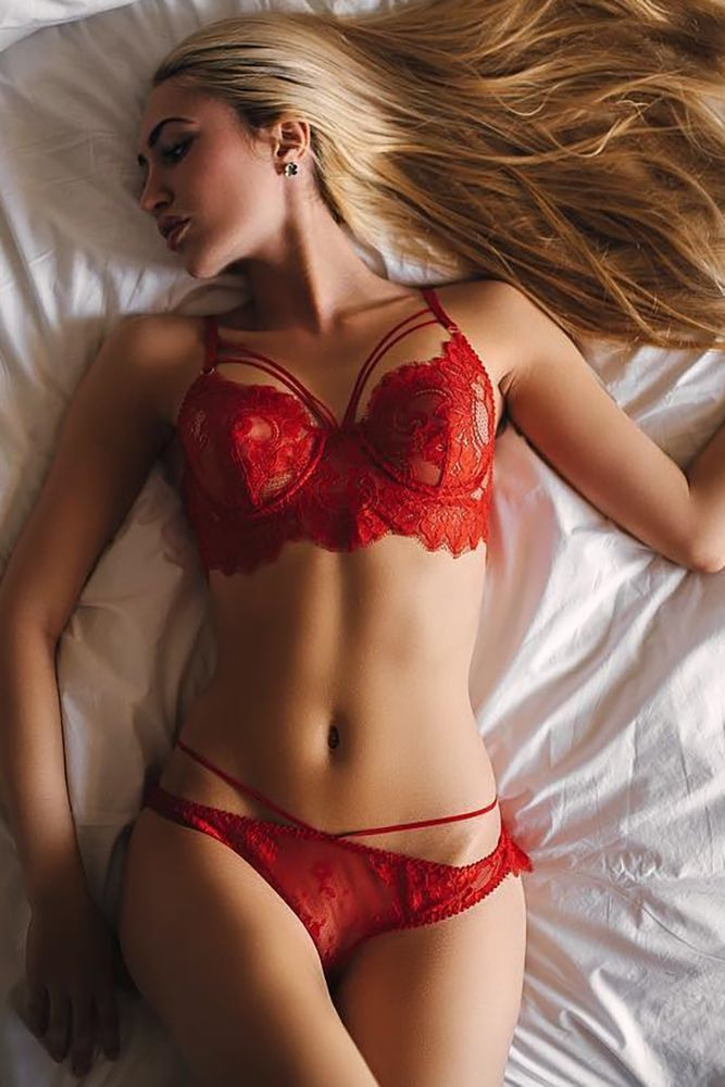 Bridal Lingerie In Red