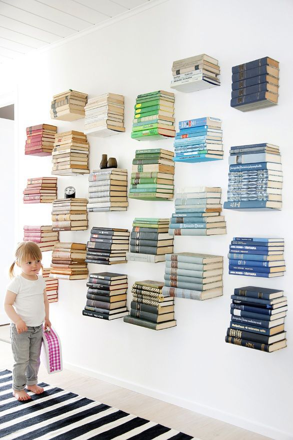 ingenious for small spaces invisible bookshelves the possibility for book storage and style abounds - Invisible Bookshelves