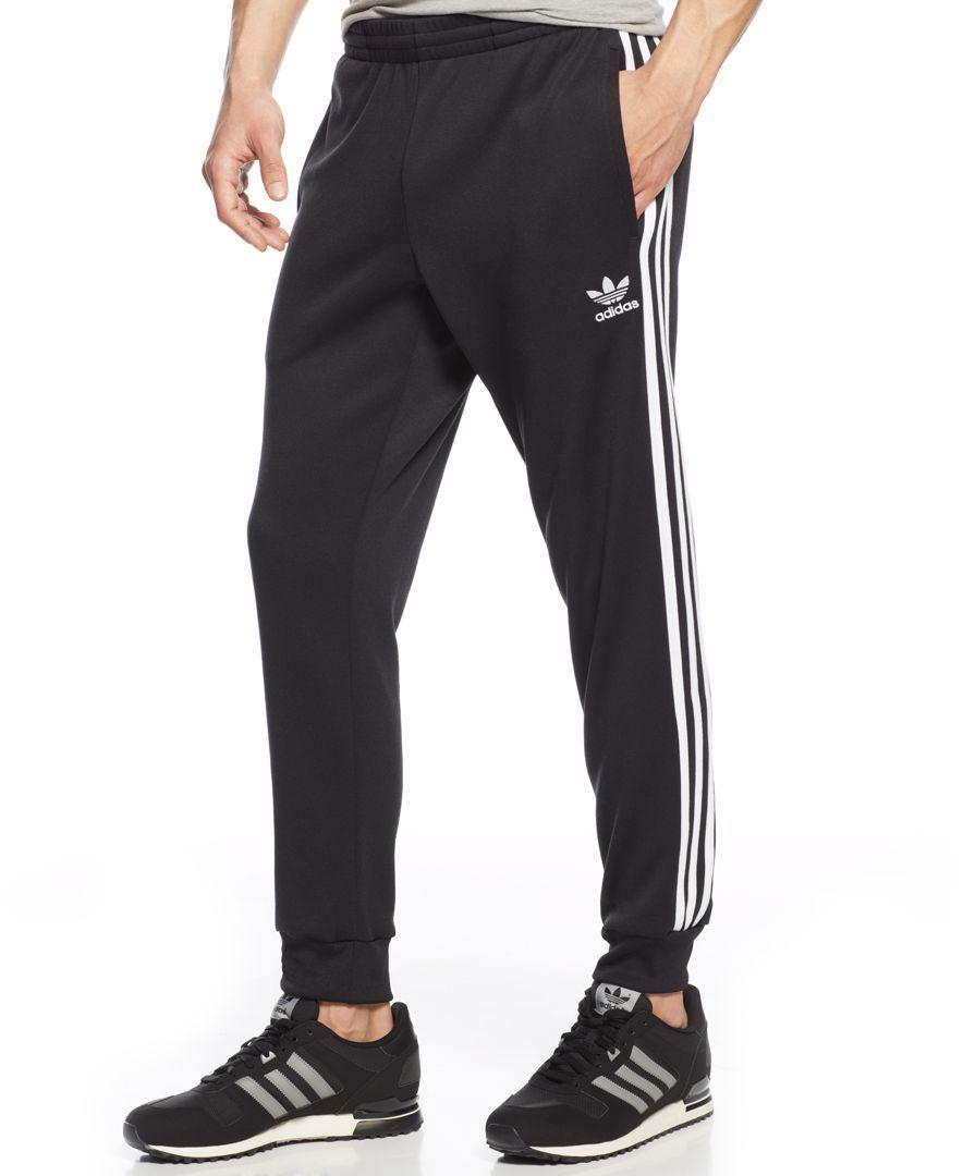 Adidas Originals Striped Joggers Activewear Men Macy S Mens Activewear Adidas Men Joggers