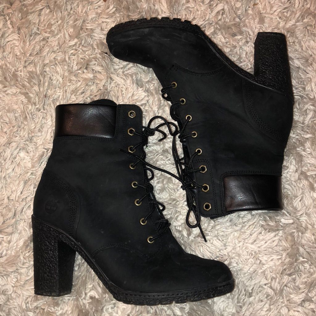 pálido Poesía termómetro  Timberland Heel Boots | Timberland heel boots, Timberland heels, Heels  boots outfit
