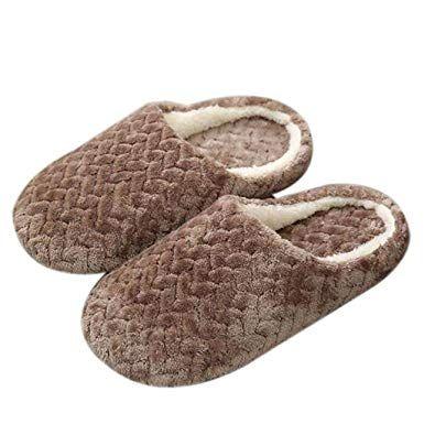 Photo of 🔥 ✂ pikins Pantofole in Cotone per la casa Resistenti all'Usura, morbide e …