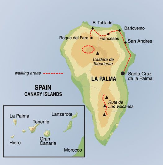 SelfGuided Trails of La Palma Walking Trekking Holidays in Spain