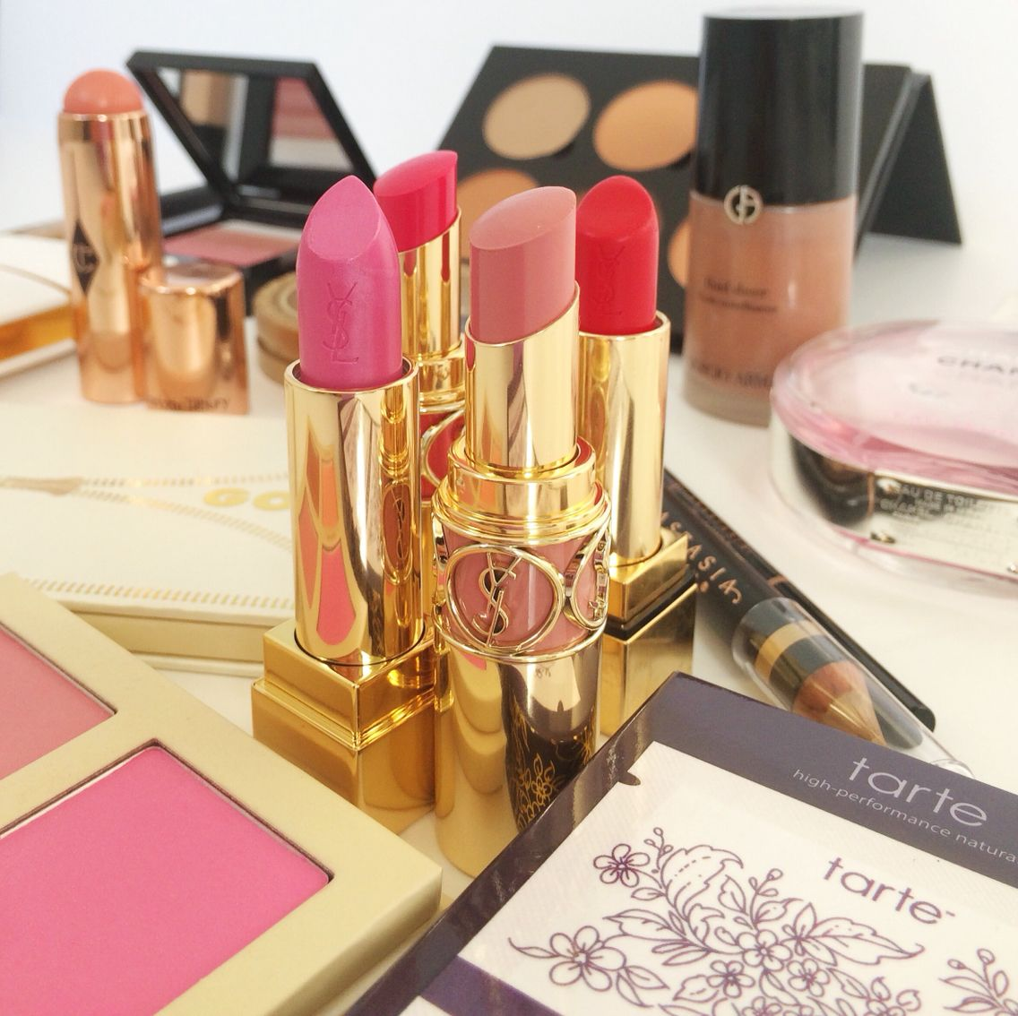 Valentine's Day beauty - YSL lipsticks, LORAC UNZIPPED, TARTE-- and More on Petals and Pumps.