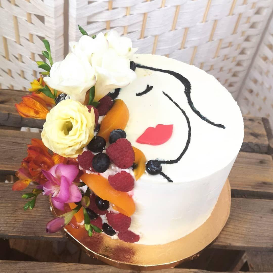 Bardzo Kobiecy Tort Twarz Women Tort Cake Owoce Kwiaty Frezja Zachciankowo Desserts Cake Birthday Cake