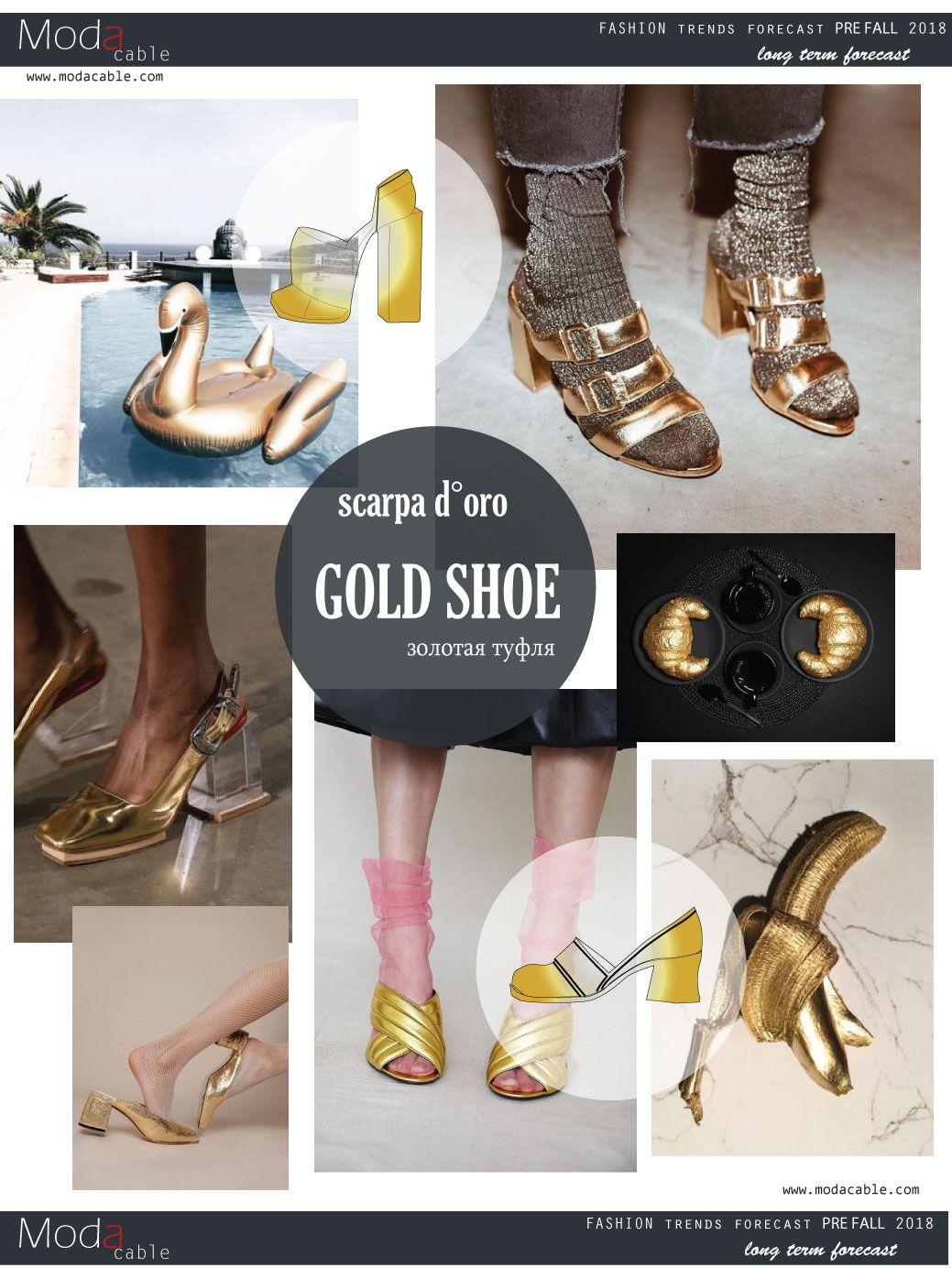 Pre fall 2018 gold shoe