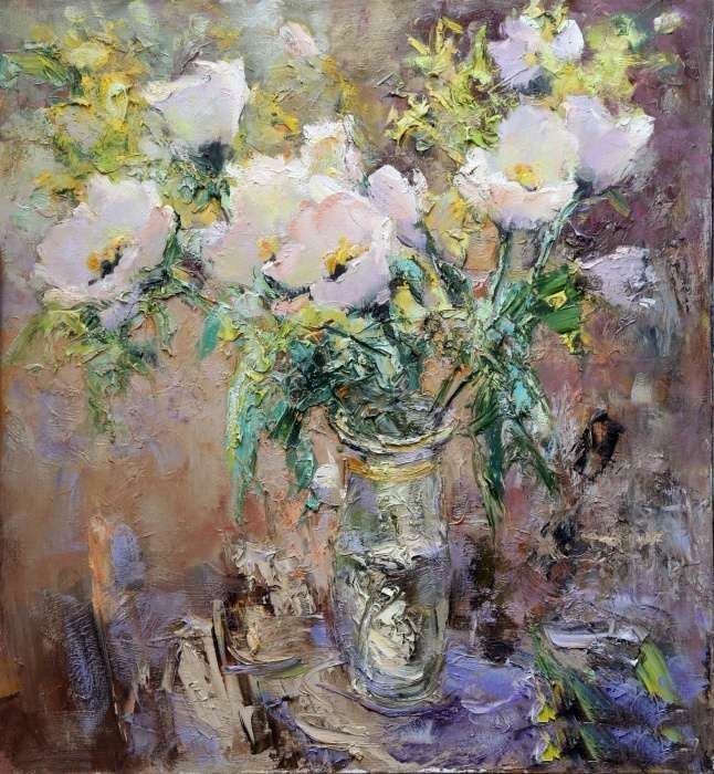 Tuman Zhumabaev, 1962 ~ Impressionist painter is part of Russian impressionism, Impressionist paintings, Flower painting canvas, Acrylic painting flowers, Impressionist art, Tuman -  Жумабаев is one of the most prominent artist living in Russia today  Recently, he had a painting acquired by the Hermitage for its permanent collection  Arrived in Leningrad from Kyrgyzstan  In 19811985 he studied at the Serov Art College; in 1991 he graduated from the Repin Institute of Painting, Sculpture and Architecture, under the tuition of Profession Yu  M  Neprintsev  His paintings are known in Austria, Vietnam, Iran, and China