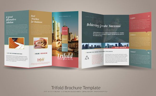 Simple Tri Fold Brochure Template 20 Simple Yet Beautiful Brochure