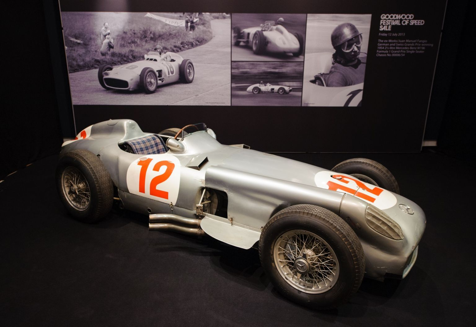 Most expensive car ever auctioned juan manuel fangio s mercedes w196 sells for record 29 6 million