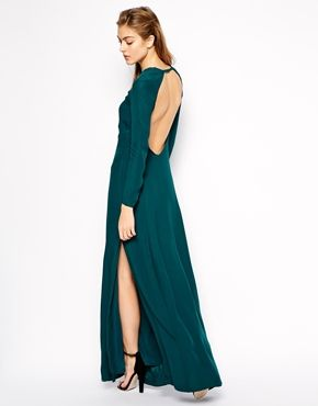 Mango maxi dress with sheer jersey panel skirt