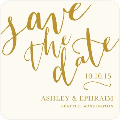 Penned Promises Signature White Save the Date Cards httpwww
