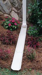 Adjust A Spout At Menards Backyard Drainage Downspout Yard Drainage