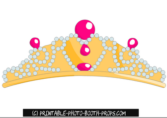 photograph about Printable Tiara titled Free of charge Printable Tiara Prop for Bachelorette Celebration Cost-free