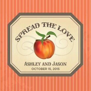 "Spread the Love Peach Jam Label - 3"" x 3"""