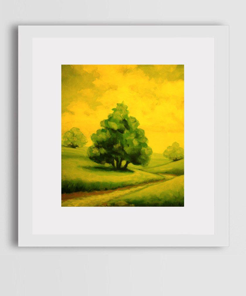 Color art office interiors - Golden Meadow Oil Painting Print Canvas Color Art Artwork