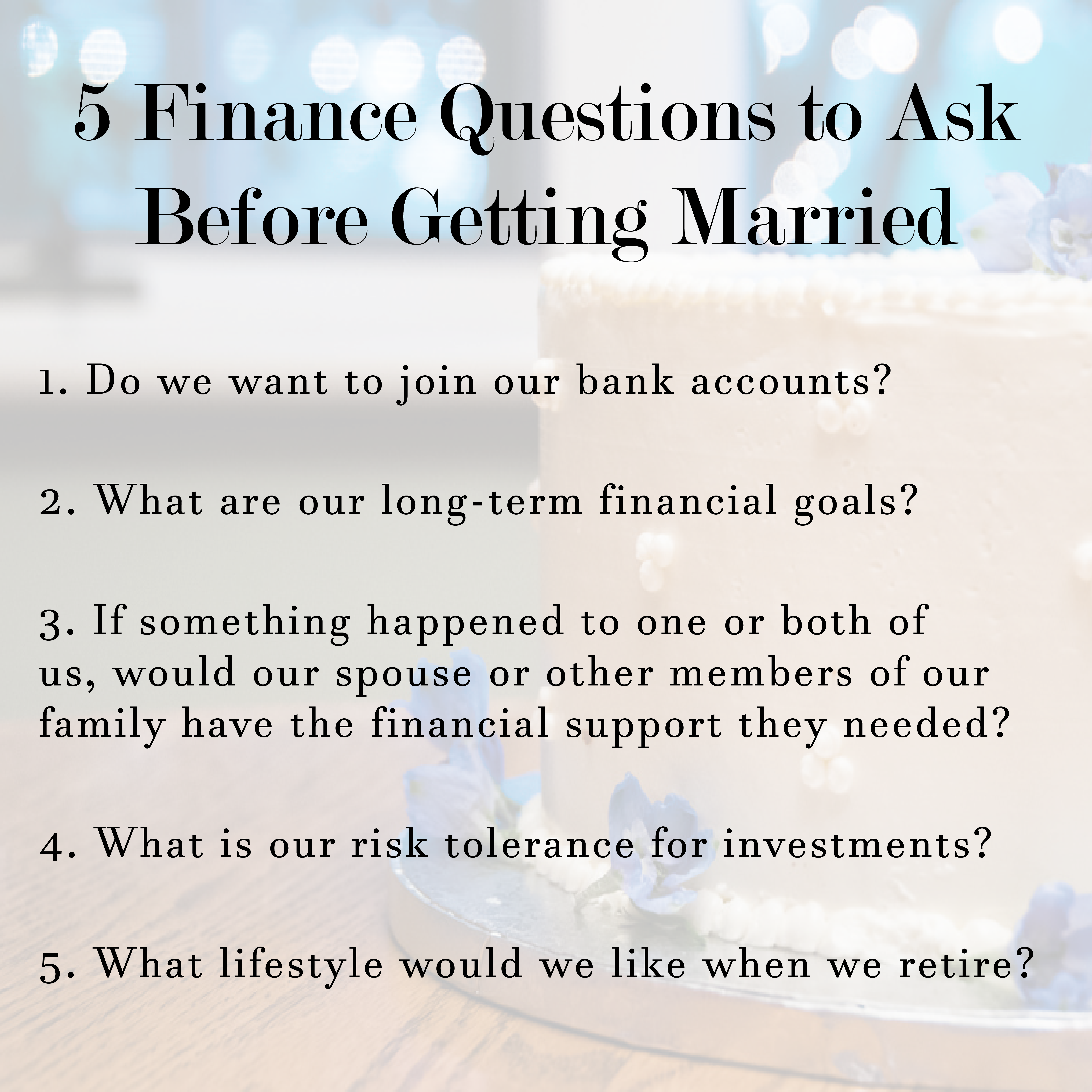 Getting married soon? Make sure to answer these 5