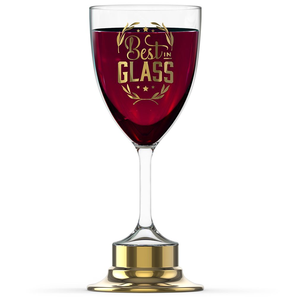 Best In Glass Trophy Wine Glass Wine Glass Glass Trophies Glass Awards