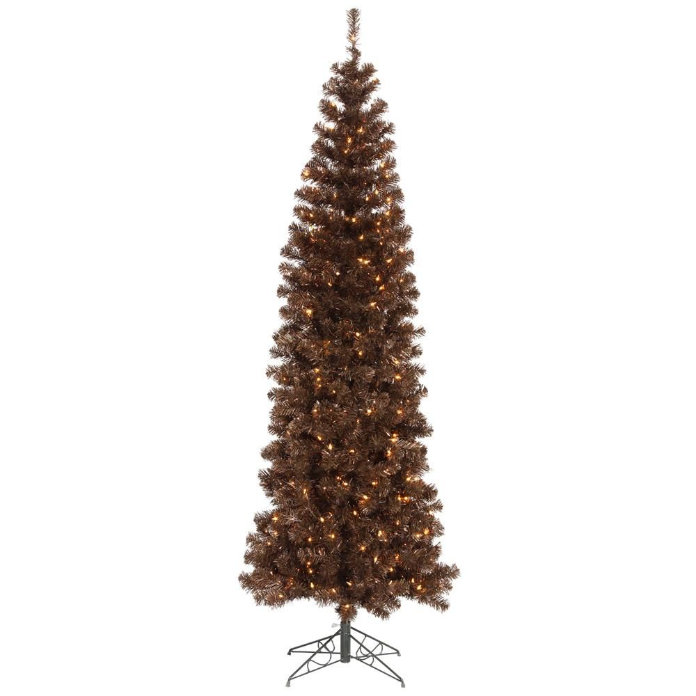 Vickerman 5.5Ft. Mocha 449 Tips Christmas Tree 250 Clear Mini Lights