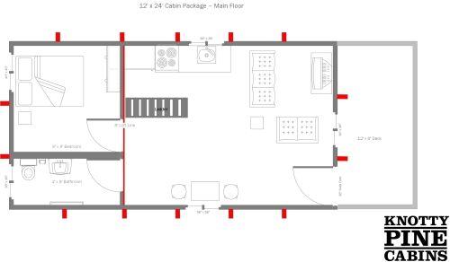 Floor Plans Alberta Cabin Packages Cabin House Plans Tiny House Plans Cabin Floor