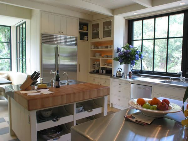 painted/stained doors & windows, off white cabinets & trim ...