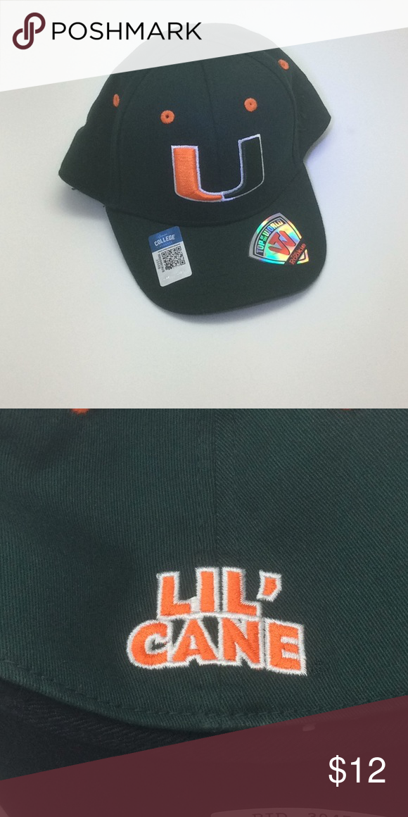 check out d45c1 f6c1f New NCAA Miami Hurricanes Infant One-Fit Hat OSFM Officially licensed NCAA  Miami Hurricanes Infant Fitted Hat. OSFM. 97% cotton 3% Spandex.