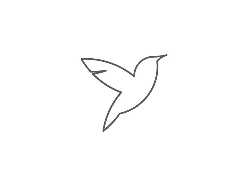Bird Icon Tadmint Line Icon Cute Easy Drawings Icon