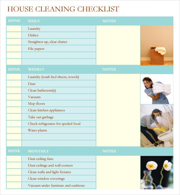 Printable House Cleaning Checklist Template Cleaning Checklist Template House Cleaning Checklist