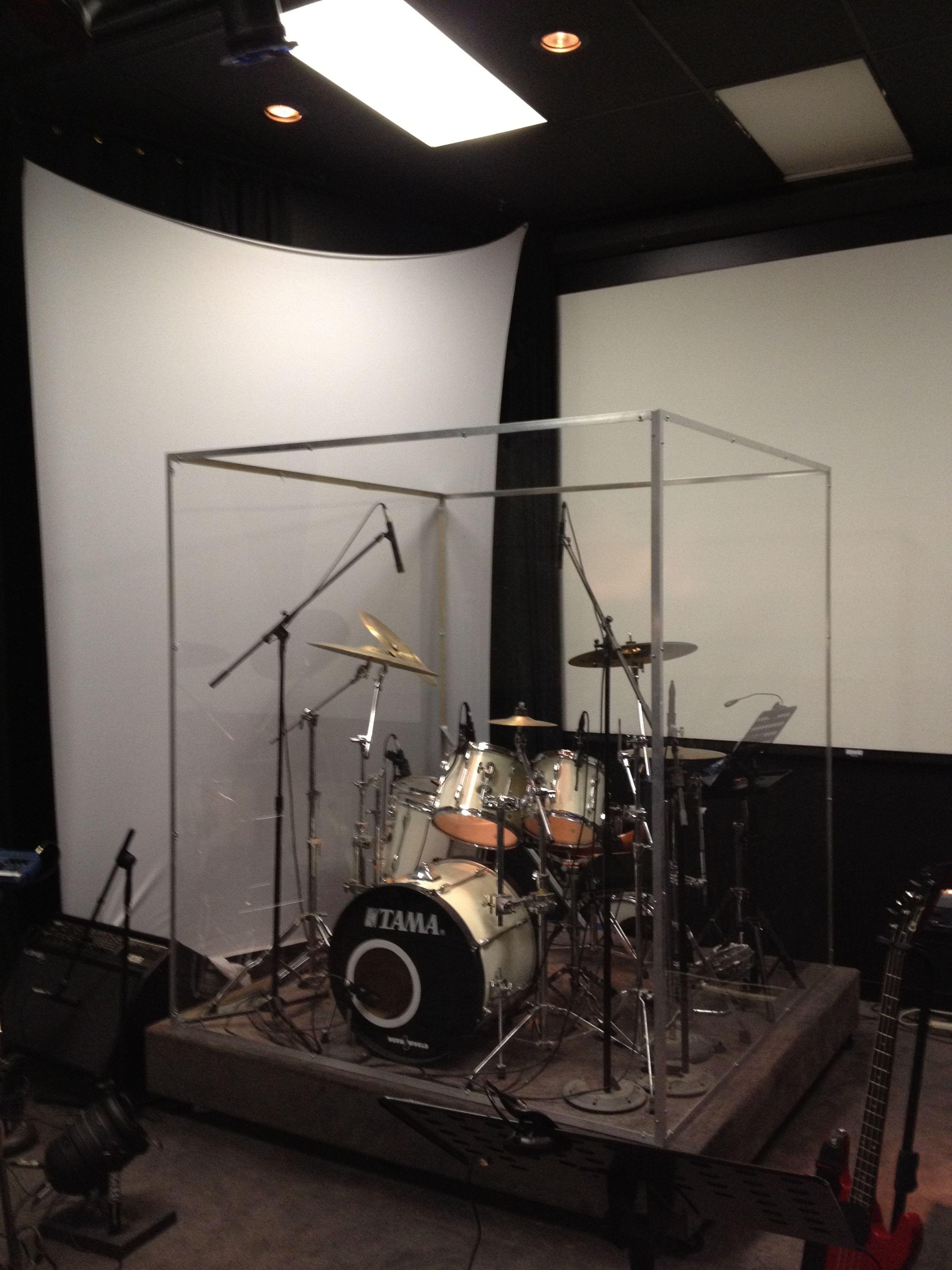 Drum Booth In 2019 Drum Room Diy Drums Drum Cage