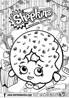 Print Shopkins Kooky Cookie Coloring Pages Shopkin Coloring