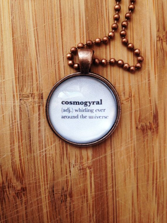 Traveler Necklace - Word Definition Pendant - Cosmogyral Gift for ...