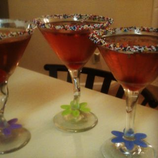 Birthday Cake Martini With Vanilla Vodka